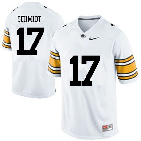 Men Iowa Hawkeyes #15 Ryan Schmidt College Football Jerseys-White