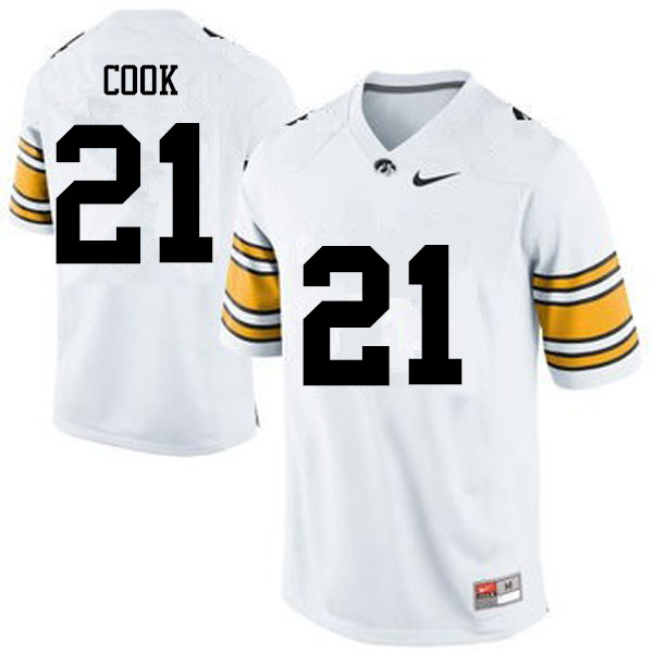 Men Iowa Hawkeyes #21 Sam Cook College Football Jerseys-White