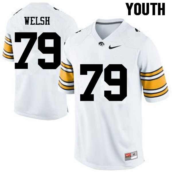 Youth Iowa Hawkeyes #79 Sean Welsh College Football Jerseys-White
