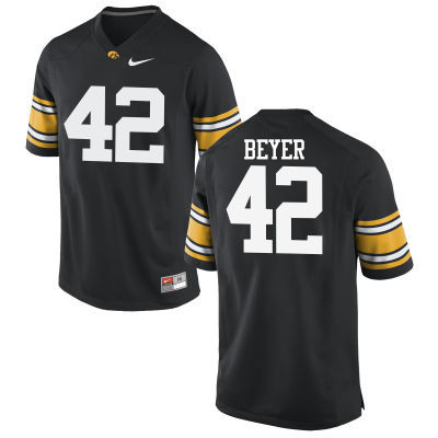 Men Iowa Hawkeyes #42 Shaun Beyer College Football Jerseys-Black