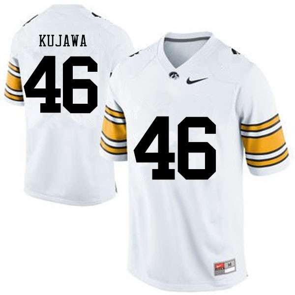 Men Iowa Hawkeyes #46 Tommy Kujawa College Football Jerseys-White