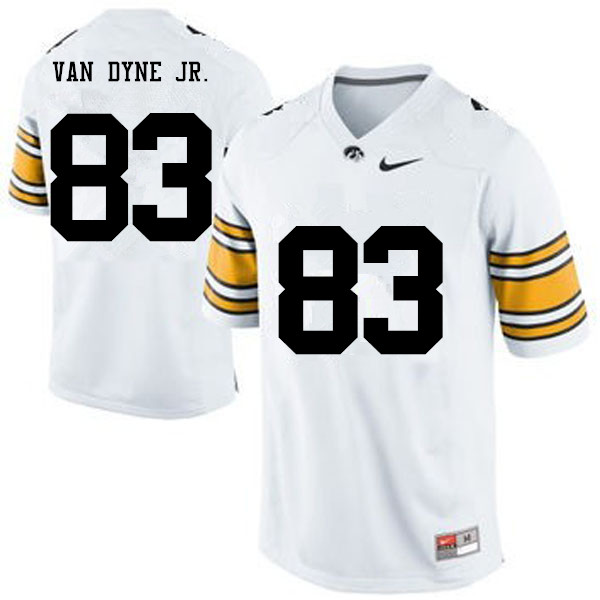 Men Iowa Hawkeyes #83 Yale Van Dyne Jr. College Football Jerseys-White