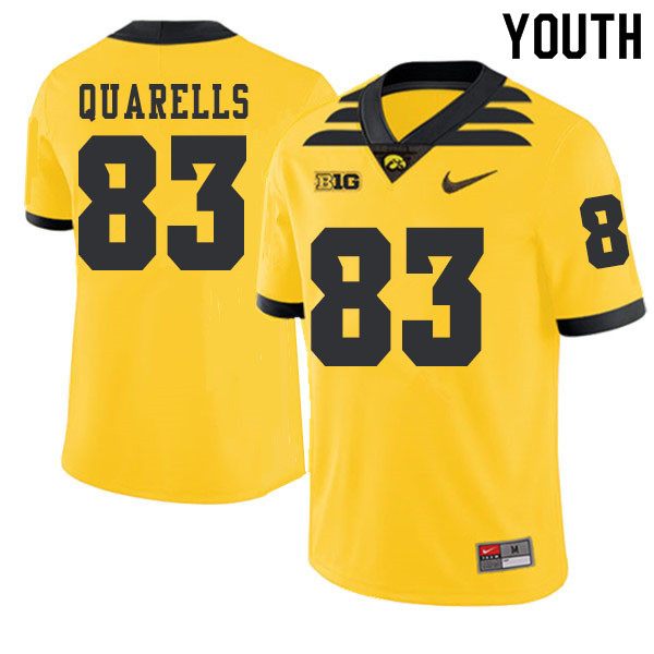 2019 Youth #83 Matt Quarells Iowa Hawkeyes College Football Alternate Jerseys Sale-Gold