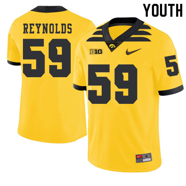2019 Youth #59 Ross Reynolds Iowa Hawkeyes College Football Alternate Jerseys Sale-Gold