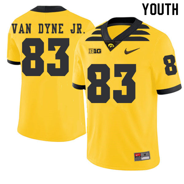 2019 Youth #83 Yale Van Dyne Jr. Iowa Hawkeyes College Football Alternate Jerseys Sale-Gold