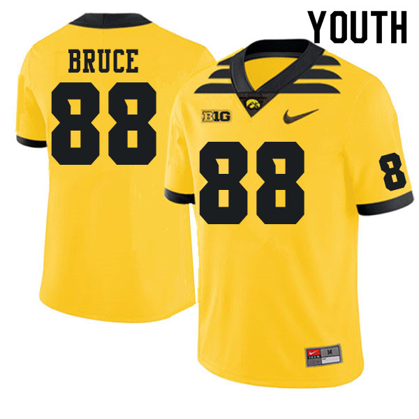 Youth #88 Isaiah Bruce Iowa Hawkeyes College Football Jerseys Sale-Gold