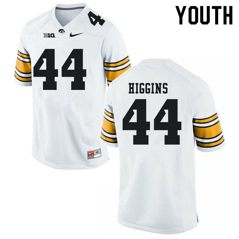 Youth #44 Jay Higgins Iowa Hawkeyes College Football Jerseys Sale-White