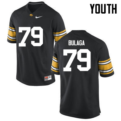 Youth Iowa Hawkeyes #79 Bryan Bulaga College Football Jerseys-Black