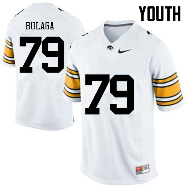 Youth Iowa Hawkeyes #79 Bryan Bulaga College Football Jerseys-White
