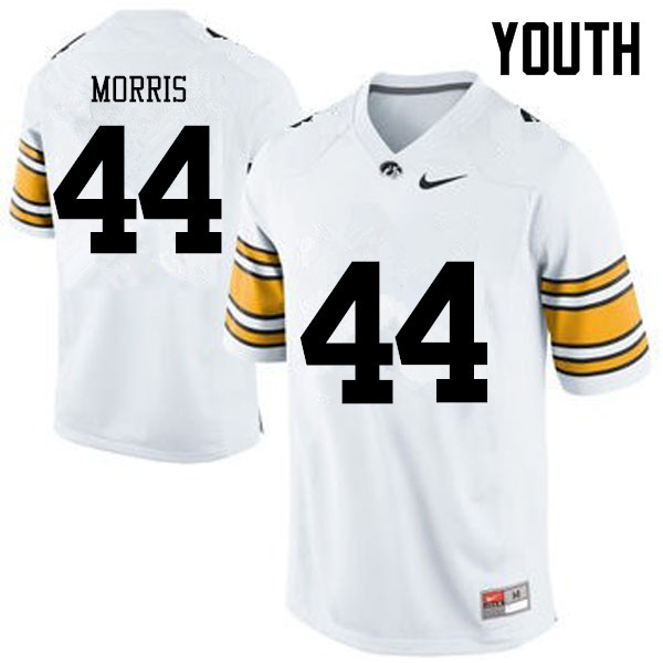Youth Iowa Hawkeyes #44 James Morris College Football Jerseys-White