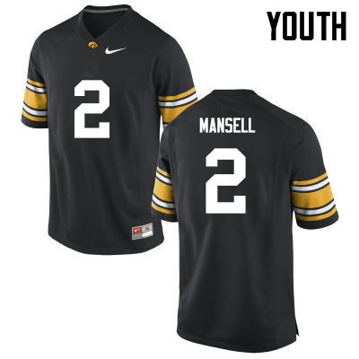 Youth Iowa Hawkeyes #2 Peyton Mansell College Football Jerseys-Black